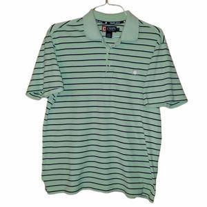 Chaps Green Short Sleeve Golf Polo